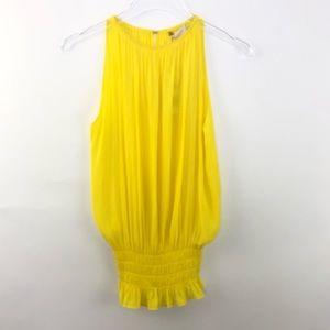 NWT Ramy Brook Lauren Sleeveless Top Yellow XS